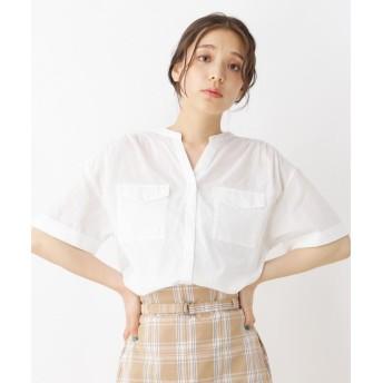 pink adobe(ピンクアドベ) Wポケット半袖シャツ