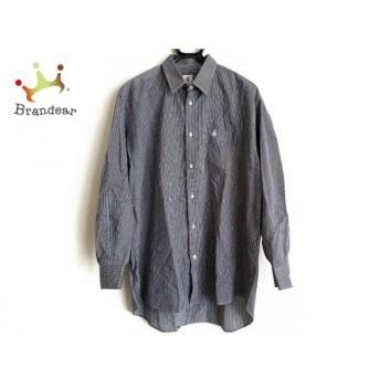 ランバン LANVIN 長袖シャツ サイズ43-17 メンズ 黒×白 ストライプ/Studio 値下げ 20190908