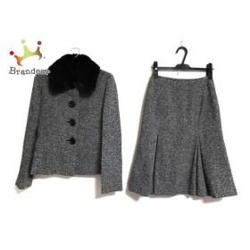 イネド INED スカートスーツ サイズ9 M レディース 美品 黒×白   スペシャル特価 20190916