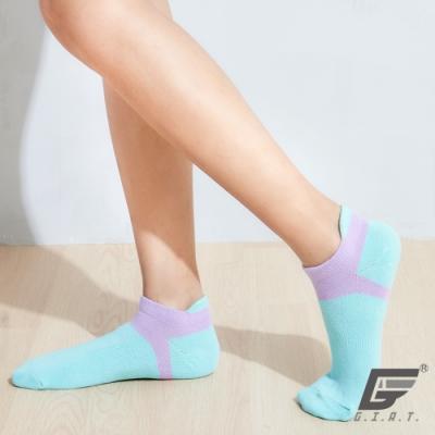 GIAT台灣製立體護跟萊卡船形襪(男女適用)-怪獸綠