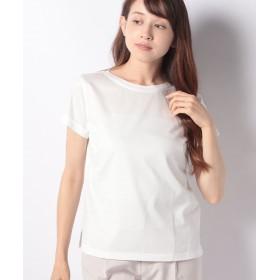 【25%OFF】 レリアンプラスハウス 天竺編みTシャツ レディース オフホワイト 13+ 【Leilian PLUS HOUSE】 【セール開催中】