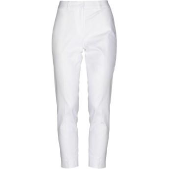 《セール開催中》BLUKEY レディース パンツ ホワイト 42 コットン 97% / 伸縮繊維 3%