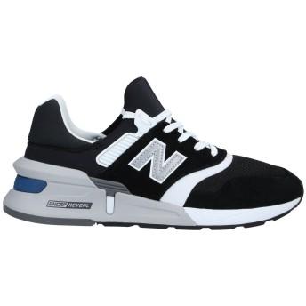 《セール開催中》NEW BALANCE メンズ スニーカー&テニスシューズ(ローカット) ブラック 7 革 / 紡績繊維