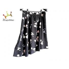 ローズティアラ Rose Tiara スカート サイズ46 XL レディース 黒×ピンク×グリーン 花柄 新着 20190626
