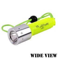 WIDE VIEW 螢光T6潛水手電筒 NZL-WT6-P