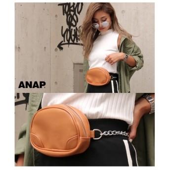ANAP チェーンポーチ型ボディバッグ(キャメル)