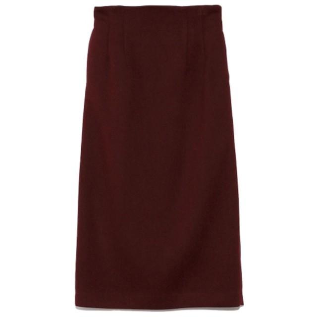 ミラオーウェン Mila Owen ウエストシャーリングタイトスカート (ワイン)