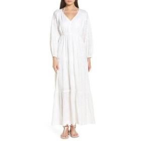 ローラー・ラビット レディース ワンピース トップス Roller Rabbit Berkley Cotton Cover-Up Maxi Dress White