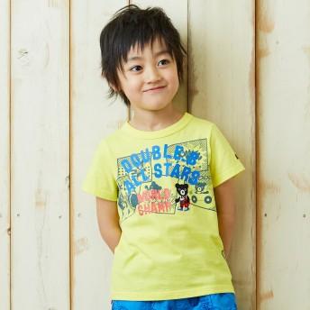ミキハウス 【アウトレット】アメコミ風プリント半袖Tシャツ 黄