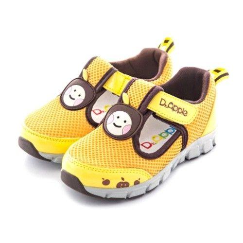 Dr. Apple - 機能童鞋-經典蘋果透氣休閒款-黃
