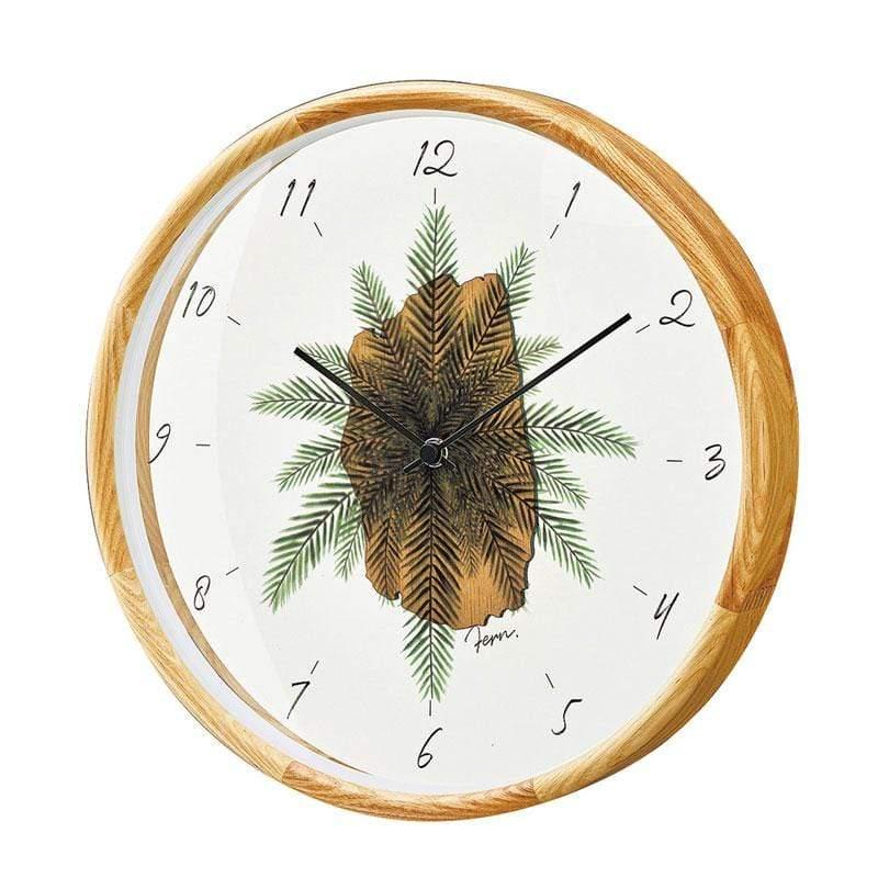 Botanica Depot-  觀葉植物靜音掛鐘(自然)
