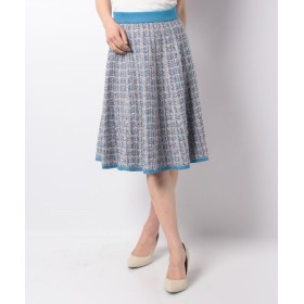 【70%OFF】 エリザ ニットツィードスカート レディース ブルー 3号(11号) 【ELISA】 【セール開催中】