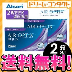 エアオプティクスアクア遠近両用 2箱セット メール便送料無料 アルコン 遠近 2ウィーク ネコポス