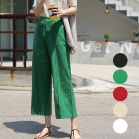 体型カバーに効く Qoo10限定送料無料 アイラブ·リネン·パンツ 5-color