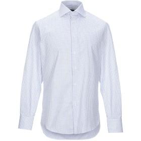《期間限定セール開催中!》J.W. SAX Milano メンズ シャツ ホワイト 41 コットン 100%