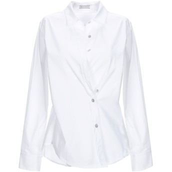 《セール開催中》BLUKEY レディース シャツ ホワイト 42 コットン 72% / ナイロン 25% / ポリウレタン 3%