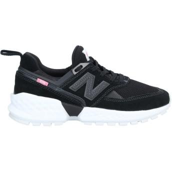 《9/20まで! 限定セール開催中》NEW BALANCE レディース スニーカー&テニスシューズ(ローカット) ブラック 6 革 / 紡績繊維