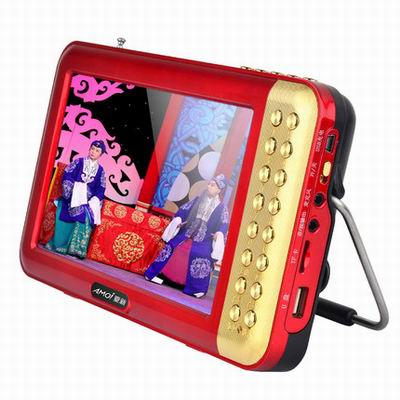 【7寸多功能看戲機-V707-標配-1套/組】老人看戲唱戲機高清視頻收音機音樂播放機(含電池)-586060