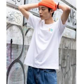 [マルイ] ワンポイント配色ロゴTシャツ/ウィゴー(メンズ)(WEGO)