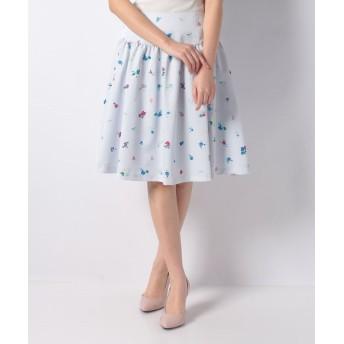 【70%OFF】 エリザ フラワードットプリントスカート レディース ブルー系 1号(7号) 【ELISA】 【セール開催中】