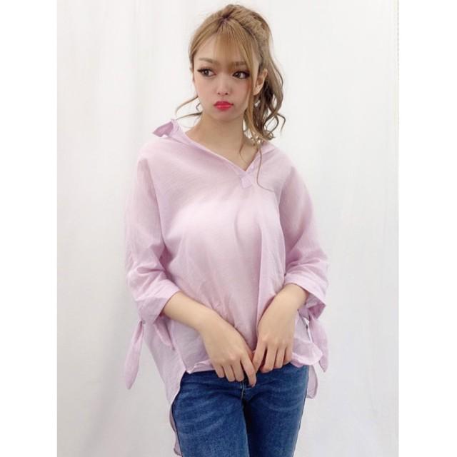 スピーガ SPIGA 袖リボンスキッパーBIGシャツ (ピンク)