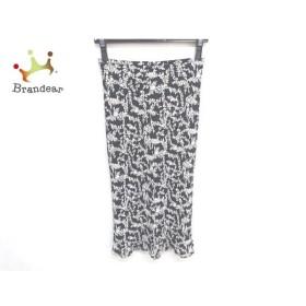 ニジュウサンク 23区 スカート サイズ36 S レディース 美品 黒×アイボリー   スペシャル特価 20191007