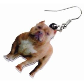 アメリカン ピット ブル テリア リアルステンレスピアス/1個販売 20G 20ゲージ 犬 イヌ ドッグ アニマル 動物 可愛い 人気 おもしろ オモ