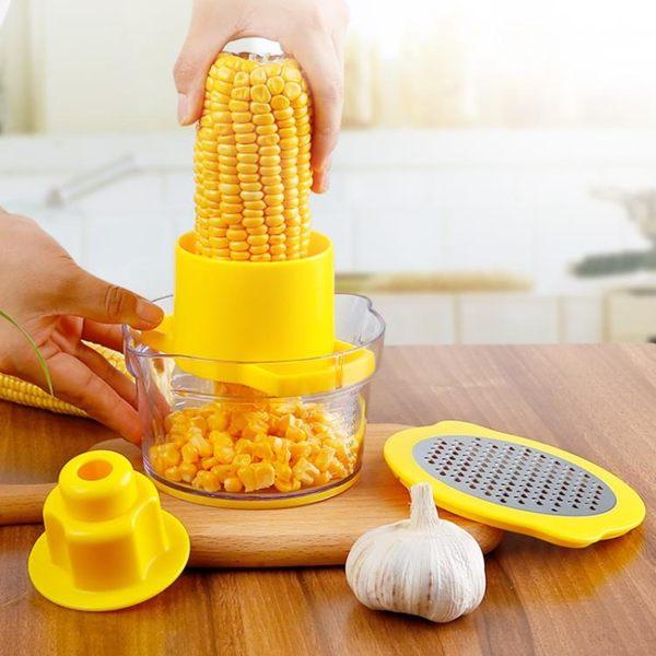 不銹鋼剝玉米神器家用削玉米器刨玉米刀 脫粒機撥玉米廚房小工具