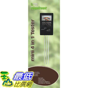 [107美國直購] Luster Leaf 土壤測試儀 1818 Rapitest Mini 4-in-1 Soil Tester