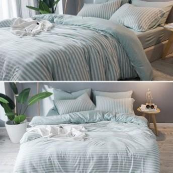 寝具カバーセット4点セット布団カバーセット 掛け布団カバー ボックスシーツ シンプルデザイン 1.5mベッド用