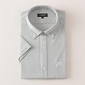 【Crestbridge 】【イージーケア】 ジャージーストライプボタンダウンシャツ