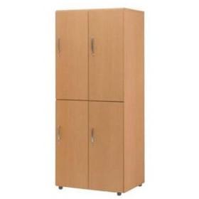 木製フリージョイントロッカー (ナチュラル) 2段4人用