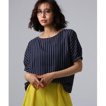 UNTITLED(アンタイトル) 【洗える】クルーズストライプスクエアシャツ