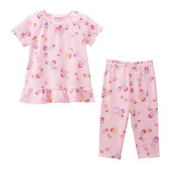 ミキハウス 【アウトレット】リーナパフューム 半袖パジャマ ピンク