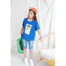 子供服 tシャツ 女の子  夏物 プリント ファッション  カジュアル 着まわし 韓国風 ダンス発表会 普段着 旅行 7 9 11 13 15 17