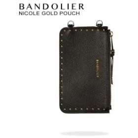 BANDOLIER バンドリヤー ポーチ NICOLE GOLD POUCH レザー メンズ レディース ブラック 20NIC1001