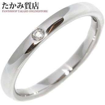 スタージュエリー 指輪 リング Pt950 ダイヤ0.02ct シークレットグリーンダイヤ 8号