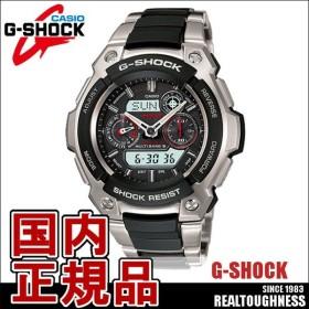 CASIO G-SHOCK ジーショック メンズ 腕時計 MTG-1500-1AJF ソーラー電波時計 タフムーブメント アナデジ ブラック レッド