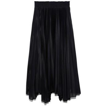ミラオーウェン Mila Owen ウエストゴムエスパンディスカート (ブラック)