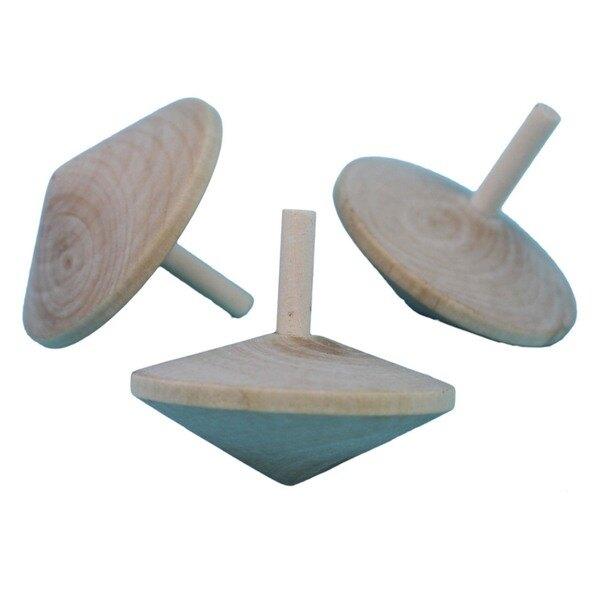 原木色旋轉陀螺 彩繪空白陀螺 直徑約5.7cm/一袋50個入{促20} 反轉陀螺 童玩~5320~