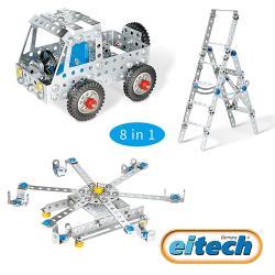 【德國eitech】益智鋼鐵玩具-8合1入門基礎款 C06