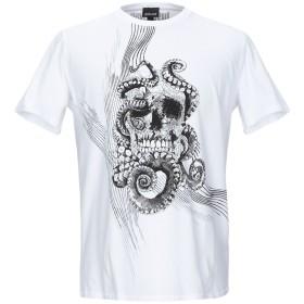《期間限定セール開催中!》JUST CAVALLI メンズ T シャツ ホワイト M コットン 100%