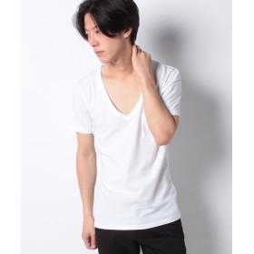 アンレアール 30/ 天竺ディープV/NポケTEE メンズ ホワイト 48 【ANRE-R】