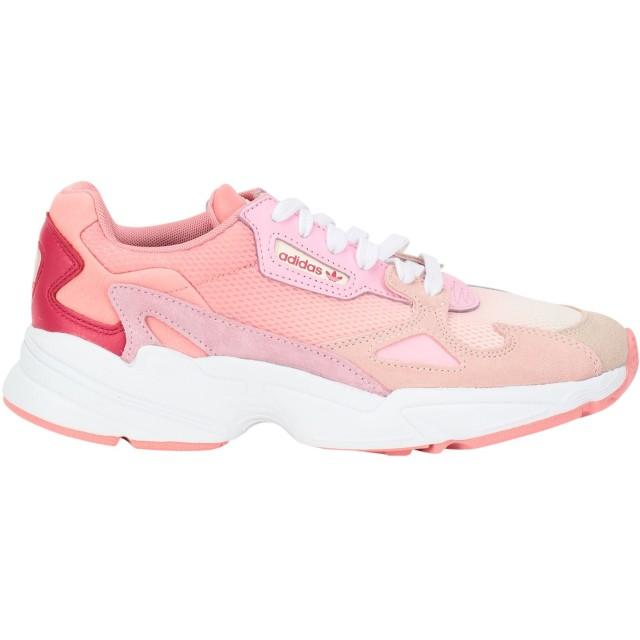 《セール開催中》ADIDAS ORIGINALS レディース スニーカー&テニスシューズ(ローカット) ピンク 3.5 革 / 紡績繊維 FALCON W