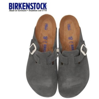 ビルケンシュトック BIRKENSTOCK ボストン レディース メンズ BOSTON BS 1012843 幅広 サンダル スエード ガンメタ グレー 国内正規品
