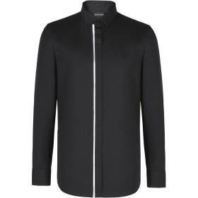 《期間限定セール開催中!》EMPORIO ARMANI メンズ シャツ ブラック L コットン 98% / ポリウレタン 2%