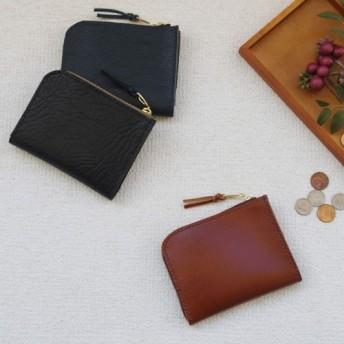 本革のLファスナー字財布 (4)
