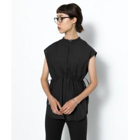 【51%OFF】 センスオブプレイス ウエストシャーリングシャツ(ノースリーブ) レディース BLACK FREE 【SENSE OF PLACE】 【セール開催中】