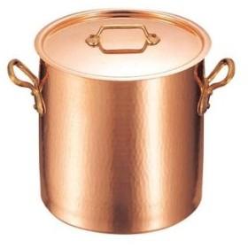 ムヴィエール 銅 寸胴鍋(蓋付)2148-24 24cm【 ガス専用鍋 】