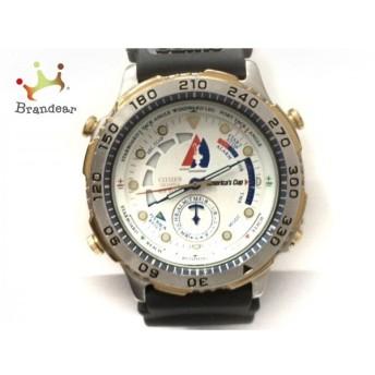 シチズン CITIZEN 腕時計 Americas Cup 6840-G80906 メンズ ラバーベルト/社外ベルト 白 スペシャル特価 20190918